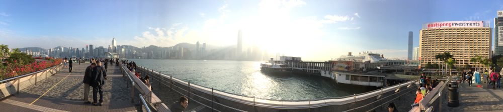 Victoria Harbor, view to Hong Kong Island