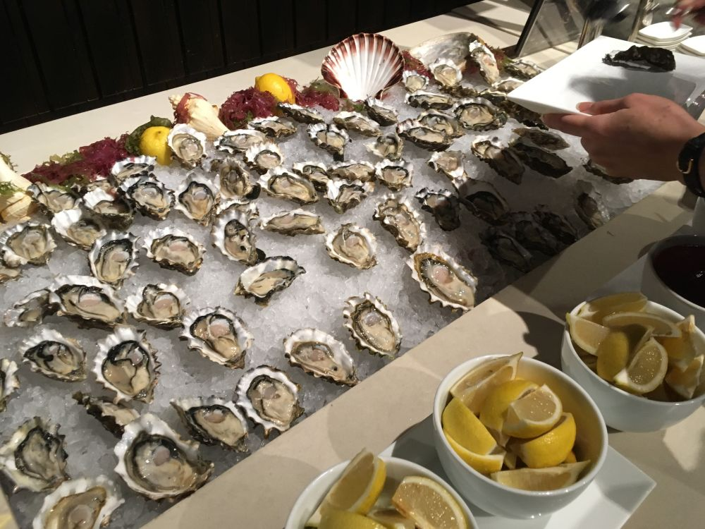 Oysters in Ritz Carlton Hong Kong