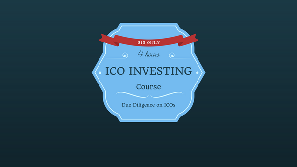[Course] Initial Coin Offering A-Z™: Become A Smart ICO Investor ($15)